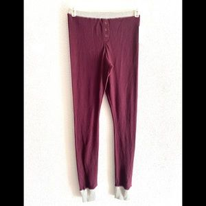 BP thermal pants burgundy/ grey women's size small